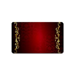 3d Red Abstract Pattern Magnet (name Card) by Simbadda