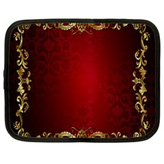 3d Red Abstract Pattern Netbook Case (large)