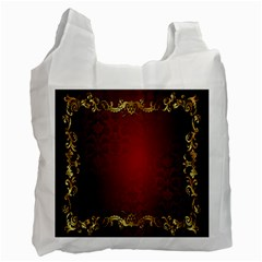 3d Red Abstract Pattern Recycle Bag (two Side)  by Simbadda