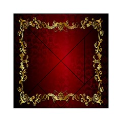 3d Red Abstract Pattern Acrylic Tangram Puzzle (6  X 6 ) by Simbadda