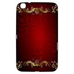 3d Red Abstract Pattern Samsung Galaxy Tab 3 (8 ) T3100 Hardshell Case