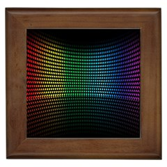 Abstract Multicolor Rainbows Circles Framed Tiles by Simbadda
