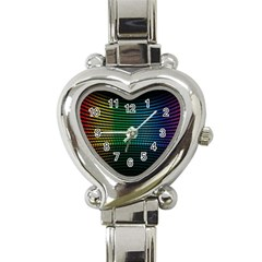 Abstract Multicolor Rainbows Circles Heart Italian Charm Watch by Simbadda