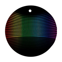 Abstract Multicolor Rainbows Circles Round Ornament (two Sides) by Simbadda