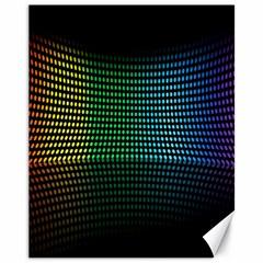 Abstract Multicolor Rainbows Circles Canvas 11  X 14   by Simbadda
