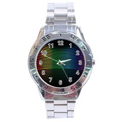 Abstract Multicolor Rainbows Circles Stainless Steel Analogue Watch by Simbadda