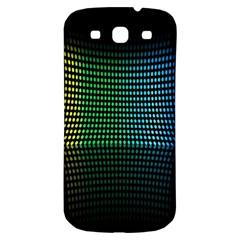 Abstract Multicolor Rainbows Circles Samsung Galaxy S3 S Iii Classic Hardshell Back Case by Simbadda