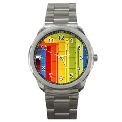 Abstract Minimalism Architecture Sport Metal Watch by Simbadda