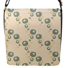 Flower Floral Pink Flap Messenger Bag (s) by Alisyart