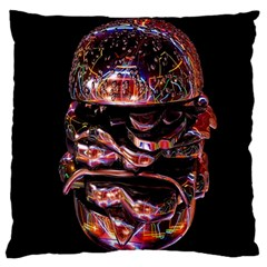 Hamburgers Digital Art Colorful Large Flano Cushion Case (one Side) by Simbadda