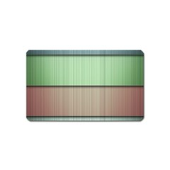 Lines Stripes Texture Colorful Magnet (name Card) by Simbadda