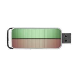 Lines Stripes Texture Colorful Portable Usb Flash (two Sides) by Simbadda