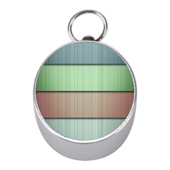 Lines Stripes Texture Colorful Mini Silver Compasses by Simbadda