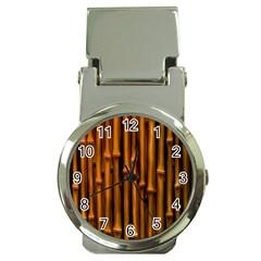Abstract Bamboo Money Clip Watches by Simbadda