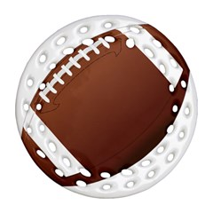 Football American Sport Ball Round Filigree Ornament (two Sides) by Alisyart