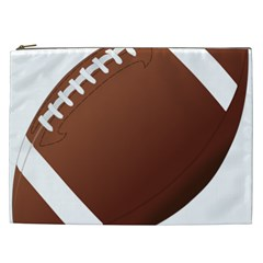 Football American Sport Ball Cosmetic Bag (xxl)  by Alisyart