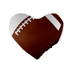 Football American Sport Ball Standard 16  Premium Heart Shape Cushions by Alisyart