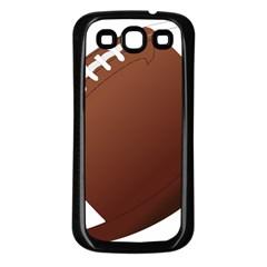 Football American Sport Ball Samsung Galaxy S3 Back Case (black) by Alisyart
