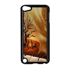 Digital Art Nature Spider Witch Spiderwebs Bricks Window Trees Fire Boiler Cliff Rock Apple Ipod Touch 5 Case (black) by Simbadda