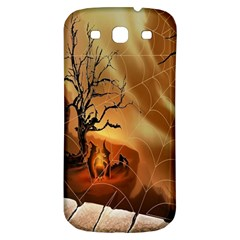 Digital Art Nature Spider Witch Spiderwebs Bricks Window Trees Fire Boiler Cliff Rock Samsung Galaxy S3 S Iii Classic Hardshell Back Case by Simbadda