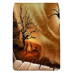 Digital Art Nature Spider Witch Spiderwebs Bricks Window Trees Fire Boiler Cliff Rock Flap Covers (s)  by Simbadda