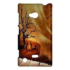 Digital Art Nature Spider Witch Spiderwebs Bricks Window Trees Fire Boiler Cliff Rock Nokia Lumia 720 by Simbadda