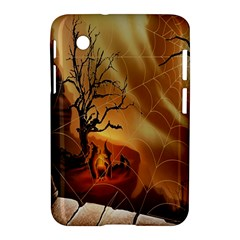 Digital Art Nature Spider Witch Spiderwebs Bricks Window Trees Fire Boiler Cliff Rock Samsung Galaxy Tab 2 (7 ) P3100 Hardshell Case  by Simbadda