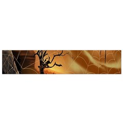 Digital Art Nature Spider Witch Spiderwebs Bricks Window Trees Fire Boiler Cliff Rock Flano Scarf (small) by Simbadda