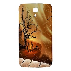 Digital Art Nature Spider Witch Spiderwebs Bricks Window Trees Fire Boiler Cliff Rock Samsung Galaxy Mega I9200 Hardshell Back Case by Simbadda