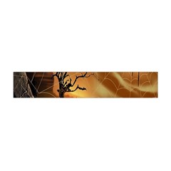 Digital Art Nature Spider Witch Spiderwebs Bricks Window Trees Fire Boiler Cliff Rock Flano Scarf (mini) by Simbadda