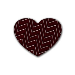 Lines Pattern Square Blocky Rubber Coaster (heart)  by Simbadda