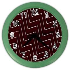 Lines Pattern Square Blocky Color Wall Clocks by Simbadda