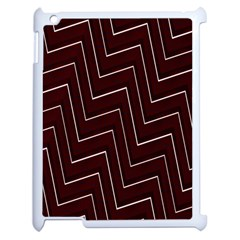 Lines Pattern Square Blocky Apple Ipad 2 Case (white) by Simbadda