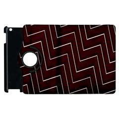 Lines Pattern Square Blocky Apple Ipad 2 Flip 360 Case by Simbadda