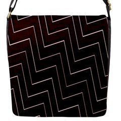 Lines Pattern Square Blocky Flap Messenger Bag (s) by Simbadda