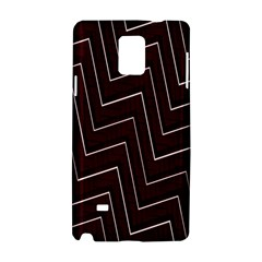 Lines Pattern Square Blocky Samsung Galaxy Note 4 Hardshell Case by Simbadda
