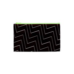 Lines Pattern Square Blocky Cosmetic Bag (xs) by Simbadda