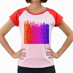 Square Spectrum Abstract Women s Cap Sleeve T Shirt by Simbadda