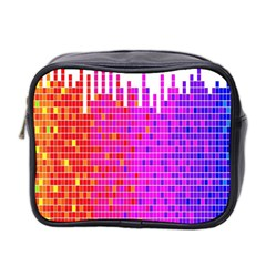 Square Spectrum Abstract Mini Toiletries Bag 2 Side by Simbadda
