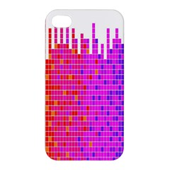 Square Spectrum Abstract Apple Iphone 4/4s Hardshell Case by Simbadda
