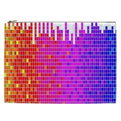 Square Spectrum Abstract Cosmetic Bag (xxl)  by Simbadda