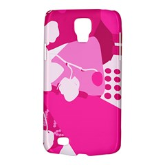 Flower Floral Leaf Circle Pink White Galaxy S4 Active by Alisyart