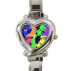 Flower Pop Sunflower Heart Italian Charm Watch by Alisyart