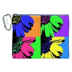 Flower Pop Sunflower Canvas Cosmetic Bag (xxl) by Alisyart