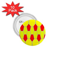 Football Blender Image Map Red Yellow Sport 1 75  Buttons (10 Pack) by Alisyart