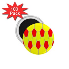 Football Blender Image Map Red Yellow Sport 1 75  Magnets (100 Pack)  by Alisyart