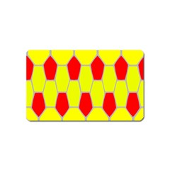 Football Blender Image Map Red Yellow Sport Magnet (name Card) by Alisyart