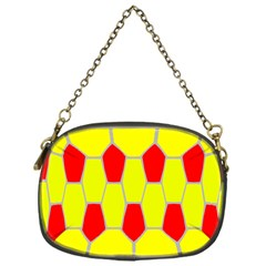 Football Blender Image Map Red Yellow Sport Chain Purses (one Side)  by Alisyart