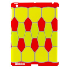 Football Blender Image Map Red Yellow Sport Apple Ipad 3/4 Hardshell Case (compatible With Smart Cover) by Alisyart