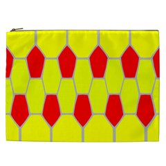 Football Blender Image Map Red Yellow Sport Cosmetic Bag (xxl)  by Alisyart